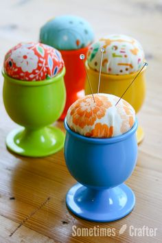 FREE PROJECT: Egg Cup Pincushion (from Sometimes Crafter)