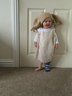 My very own Dobby! Halloween costume with crochet hat cutest Dobby ever!!