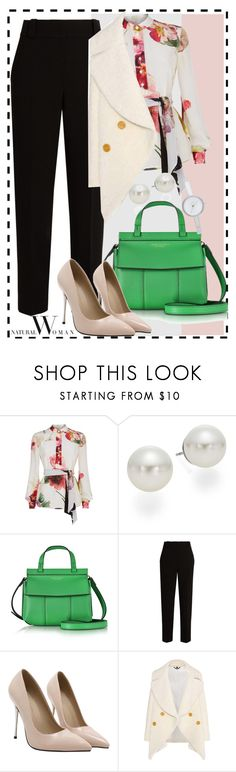 """""""Natural Woman"""" by jhardy-1 ❤ liked on Polyvore featuring Lanvin, AK Anne Klein, Tory Burch, The Row, Burberry and DKNY"""