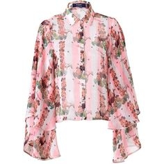 SUPERSWEET x moumi - Gypsy Shirt ($310) ❤ liked on Polyvore featuring supersweet