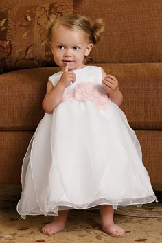 New Arrival Flower Girl Dresses Ball Gown Scoop Tea Length Organza