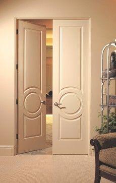 Double doors with circle motif