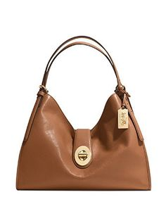 Coach Smooth Leather Madison Carlyle Shoulder Bag