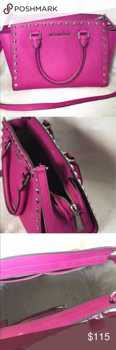 MICHAEL KORS | Pink Studded Purse Pink studded Michael Kors purse. Good condition, only marks are pictured. Michael Kors Bags