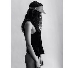 LARISSA HADJO leather visor - shot by @rumbleinmajungle #isabellabejarano Isabella Bejarano