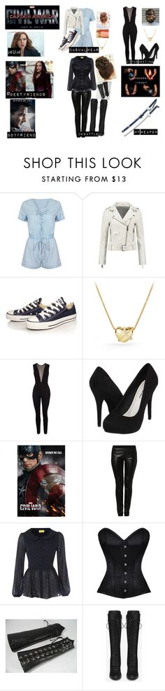 """Me in Captain America:Civil War"" by moon-and-back-babe123 ❤ liked on Polyvore featuring WithChic, Converse, David Yurman, Michael Antonio, Max C and Yves Saint Laurent"
