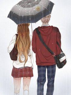 Anime Couple so kawaii Manga Anime, Art Manga, Anime Chibi, Manga Couples, Cute Anime Couples, Anime Love Couple, I Love Anime, Couple Art, Hetalia