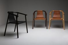 Saddler Chair is a minimal chair created by Sydney-based designer Dennis Abalos. Saddler Chair is a modern leather sling chair that celebrates strong Australian craftsmanship and supports local production.