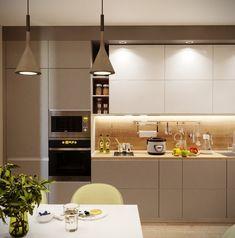 Kitchen Room Design, Modern Kitchen Design, Home Decor Kitchen, Kitchen Sets, Interior Design Kitchen, Kitchen Design Minimalist, Minimalist Kitchen Cabinets, Kitchen Colour Combination, Log Home Kitchens