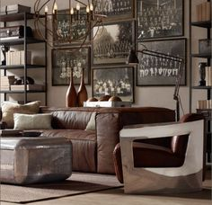 love this comfy masculine space
