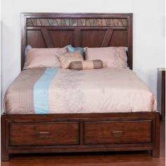 Check out the Sunny Designs 2379WT-Q Rock Ridge Queen Storage Bed priced at $1,247.50 at Homeclick.com.