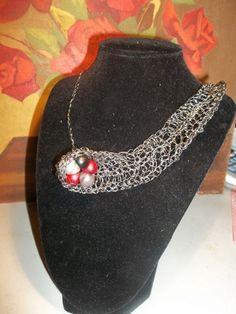Asymmetrical Necklace with Bead Cluster | HiddenHummingbirdDesigns - Jewelry on ArtFire