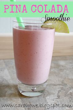 Piña colada smoothie- Here's what you need!   Good quality Protein Powder, this is my favorite! Frozen Banana, Strawberries & Pineapple. Almond milk of choice and Coconut Extract!