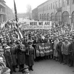 A Pearl Harbor rally in Brooklyn, December 1941