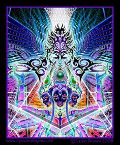 Психоделик от художника Luke Brown (37 фото - 8.60Mb) » Фото, рисунки