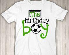Boys Birthday Shirt - Boys Birthday Outfit - Football Birthday - Soccer Birthday T Shirt - Boys Birthday Soccer Birthday Parties, 2nd Birthday Shirt, Football Birthday, Birthday Party Outfits, Soccer Party, Boy Birthday, Personalized Birthday Shirts, Cake Smash Outfit, Soccer Shirts