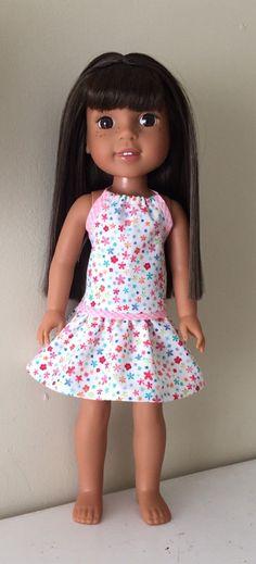 CUSTOM Wellie Wishers AG 14.5 in doll Stripe Capri Short Tee set American girl