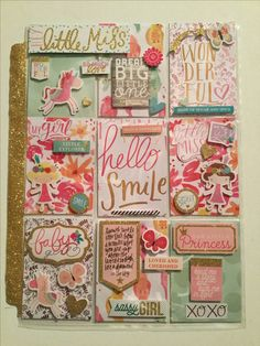 Pocket letter created by Brittany Mitchell using Me And My Big Ideas Baby Girl collection!!!