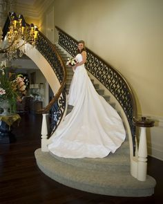 Photo: Britney Guilbeau poses for her bridal photograph on the stairs of J. Hixon & Sons Funeral Home in Lake Charles, La. Bridal Portrait Poses, Bridal Poses, Bridal Shoot, Wedding Pictures, Wedding Ideas, Photography Ideas, Wedding Photography, Popular Pins, Photo Poses