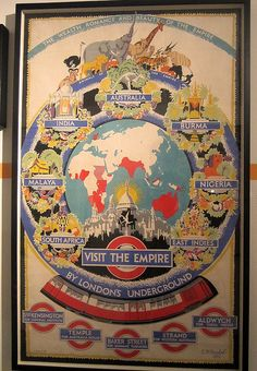 Visit the Empire by London's Underground Vintage poster