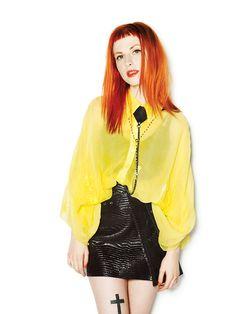 red hair short fringe on Haley