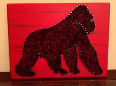 A personal favorite from my Etsy shop https://www.etsy.com/listing/500628909/harambe-string-art-rest-in-piece-gorilla