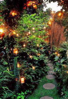 Garden Paths, Garden Art, Home And Garden, Hillside Garden, Garden Pond, Garden Modern, Amazing Gardens, Beautiful Gardens, Enchanted Garden