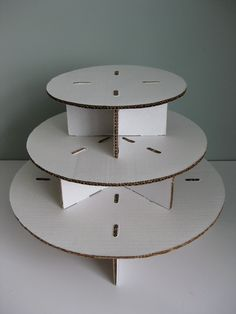 Unfinished Three Tiered Cardboard Cupcake Stand Do It Yourself. $15.50, via Etsy.