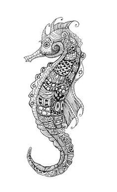 Seahorse Zentangle. #tangle