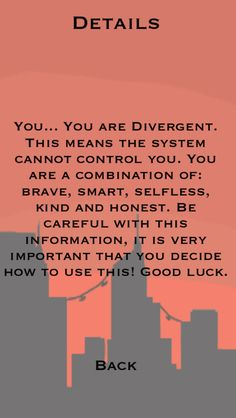 I took the faction test from divergent and this (these) is (are) my faction(s).