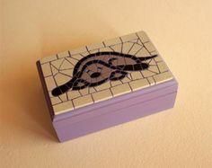 Cuadro de mosaico decorativo de madera por Mosaicloud en Etsy