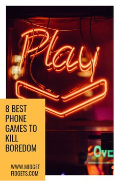 8 Best Non-Immersive Free Mobile Games to Kill Boredom - Midget Fidgets Free Mobile Games, Phone Games, Best Phone, Games To Play, Neon Signs, Entertaining, Blog, Ideas, Blogging