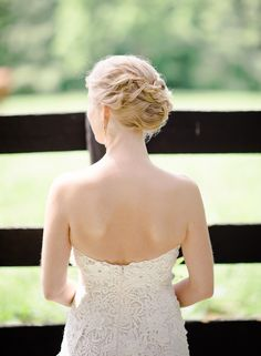 #hairstyles  Photography: Rebecca Yale Portraits - rebeccayaleportraits.com  Read More: http://www.stylemepretty.com/2014/09/12/cozy-hudson-ny-barn-wedding/