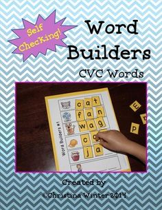 CVC WORD BUILDERS {SELF CHECKING!} Great for my little guys who need some more support!
