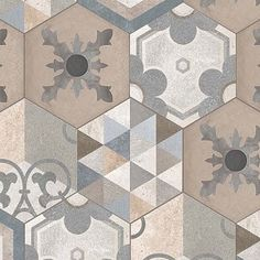 Hexagonal mixed tiles textures seamless - 29 textures