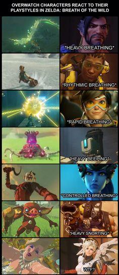 Overwatch characters react to Zelda: BotW