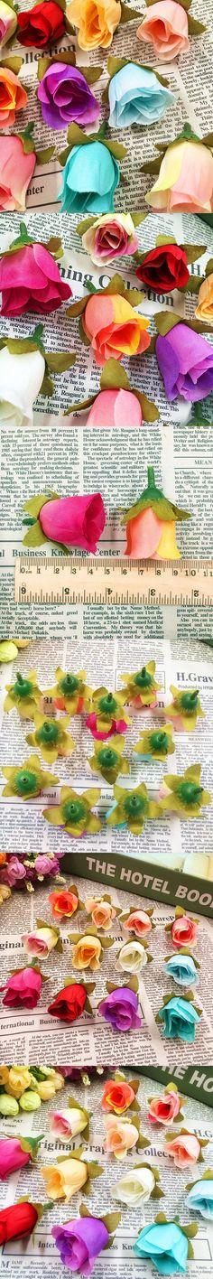 Artificial tea mei simulation silk flower heads home garden decoration/wedding wreath of DIY gift box 10 PCS (4.5 cm/flower)