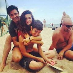 On the Beach in #CANNES with my Son GEORGE and cousin LAURA  my niece #FRANCE #BEACH #FAMILY Gilles Marini, Niece France, Cousins, Cannes, Sons, Couple Photos, Instagram, Beach, Couple Shots