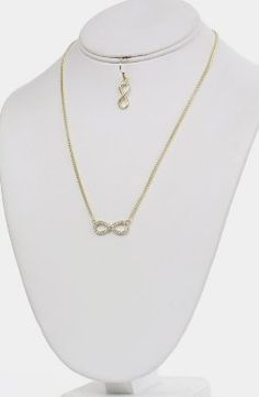 Amazon.com: Crystal Infinity Symbol Necklace & Earring Set, Gift-Boxed: Jewelry