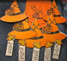 dennison's halloween bridge set