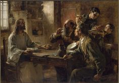 Friend of the Humble (Supper at Emmaus). 1892. Léon-Augustin L'hermitte.jpg