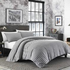 Eddie Bauer Preston Cinder Flannel Duvet Set | Overstock.com Shopping - The Best Deals on Duvet Covers