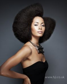 Her makeup is perfect.  Erika Selvaggio Afro Hairdresser of the Year finalist