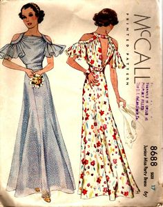 Vintage Meets Modern: A Classic Lifestyle New Look - Popular Vintage Evening Dress Patterns, Vintage Dress Patterns, Clothing Patterns, 1930s Fashion, Retro Fashion, Vintage Fashion, Men's Fashion, Vintage Outfits, Vintage Gowns