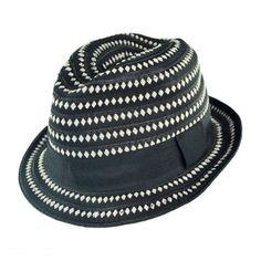 fedora hats   Home Men's Hats Fedoras All Fedoras Diamond Ribbon Fedora Hat