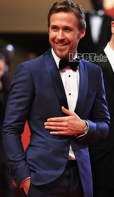 Ryan Gosling rocking the bow tie.