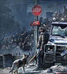 Do you think you would be able to survive a zombie apocalypse? ⚠️ ° ° Art b Zombie Kunst, Arte Zombie, Zombie Art, Games Zombie, Apocalypse Aesthetic, Apocalypse Art, Science Fiction, Arte Horror, Horror Art