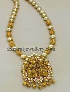 Jewellery Designs: Uncut Beads and Pearls Long Chain