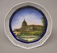 Souvenir China Serving Bowl US Capitol Building Washington DC Schumann Germany