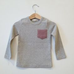 NV Pocket t-shirt [grey]  www.mintandpersimmon.com
